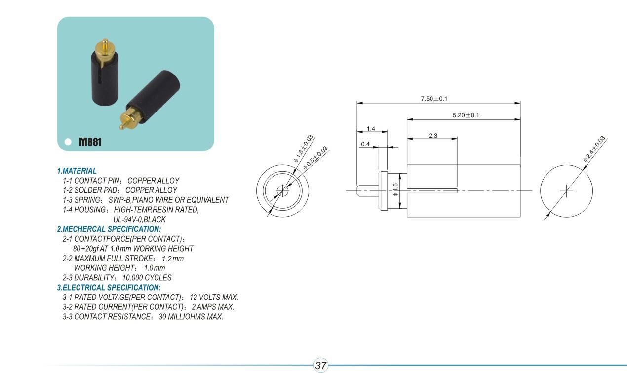 汽车连接器的插针插孔表层不同镀金属种类的影响